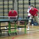 Alexander en Jeroen in actie voor team 2.