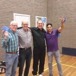 De 4 winnaars samen